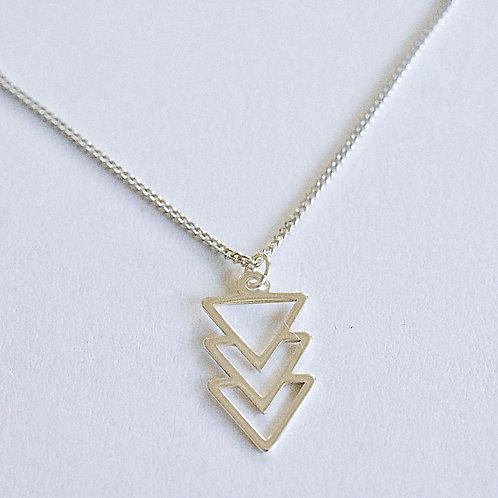 Ketting geometrische hanger sterling zilver 925