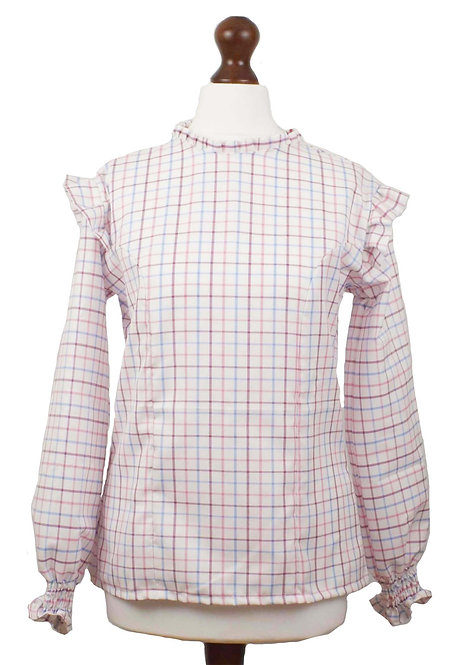 The Wickham Blouse - Pink Check