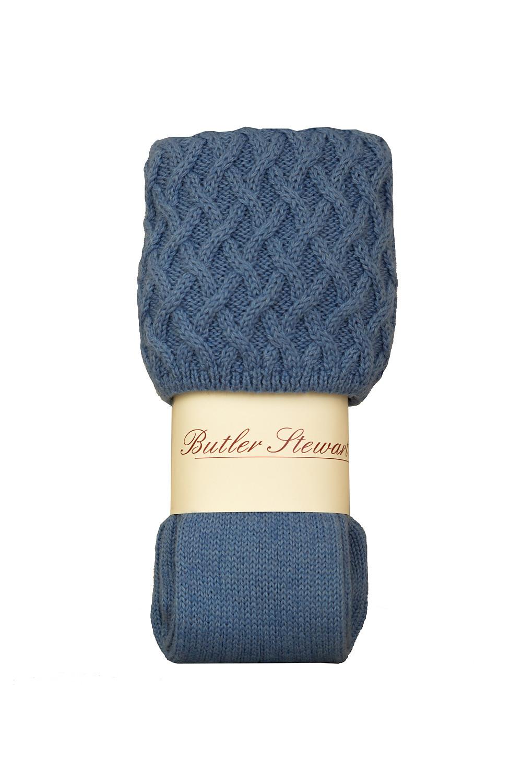 Rannoch socks in bluebell