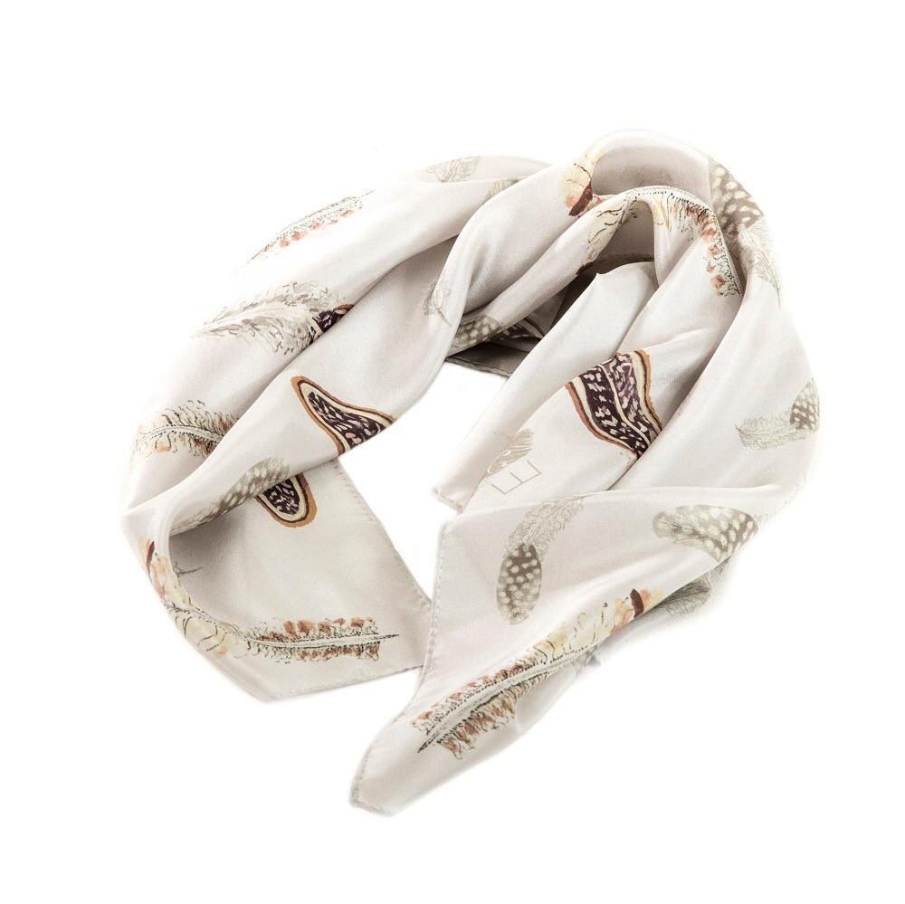 Pluma silk scarf
