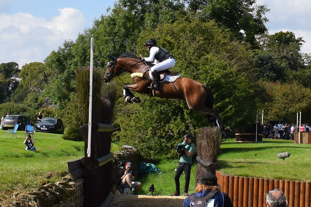 The legendary Michael Jung and La Biosthetique Sam soar over the Cottesmore Leap
