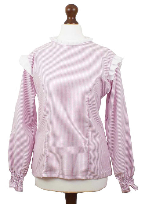 The Wickham Blouse - Pink Stripe