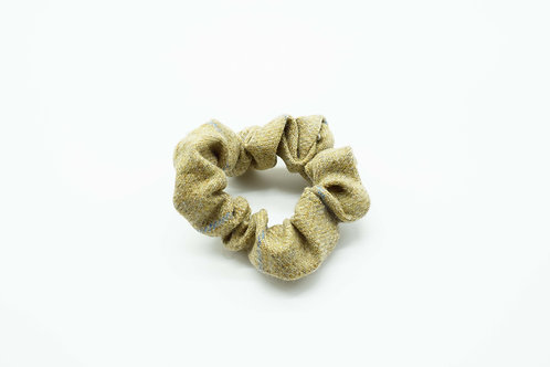 The Rivenhall Scrunchie - Beige Check