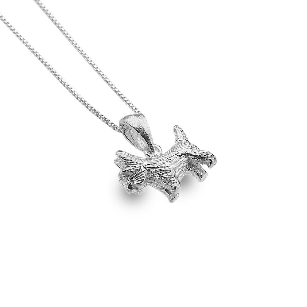 Sterling silver Scotty dog necklace