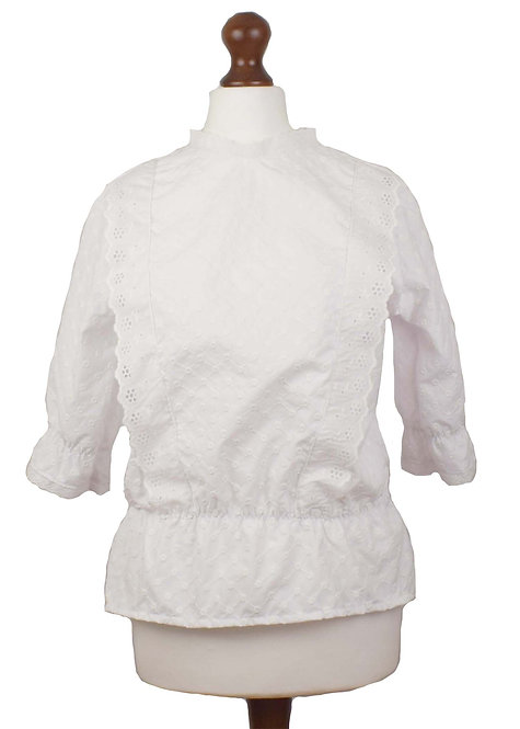The Langford Blouse - White