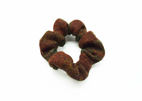 The Rivenhall Scrunchie - Green/Red Check