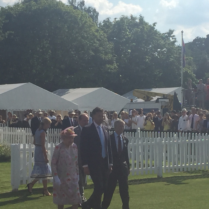 HM The Queen on the move