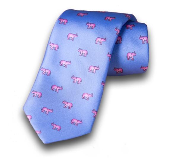 Butler Stewart elephant silk tie