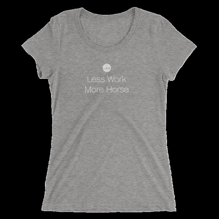'Less work more horse' t-shirt