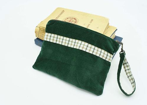 The Terling Clutch - Green Velvet