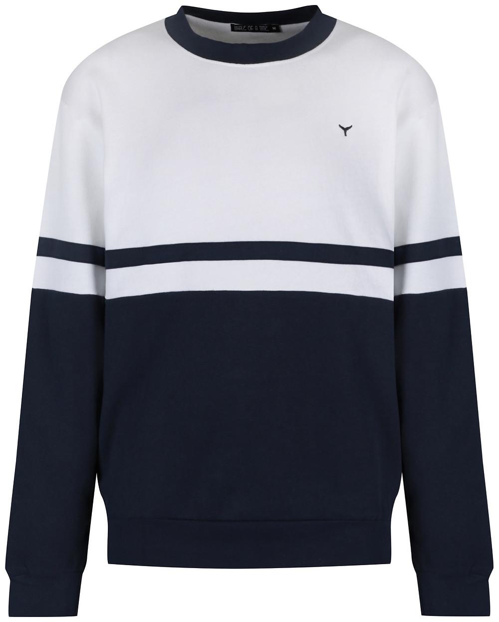 Omura navy & white sweatshirt