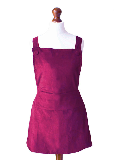 The Eastthorpe Dress - Burgundy Cord