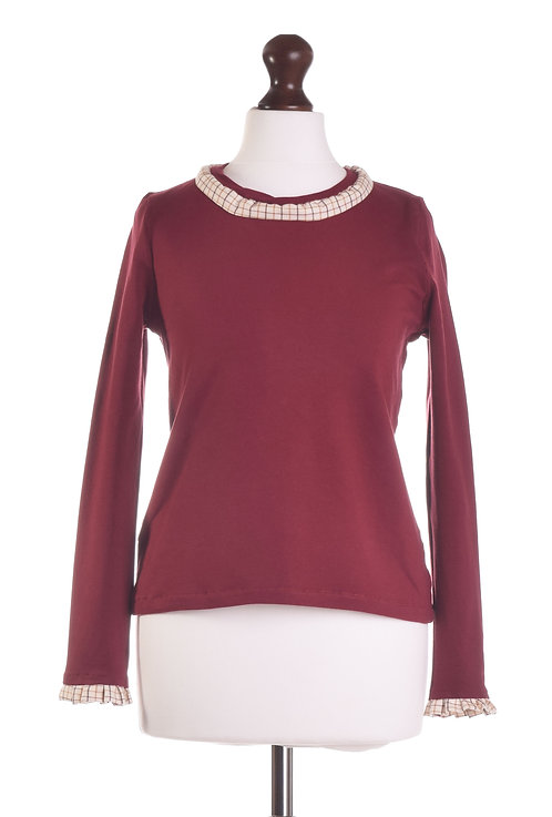 The Copford Top -Burgundy