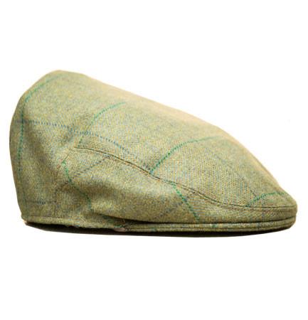 Butler Stewart flat cap in pear green