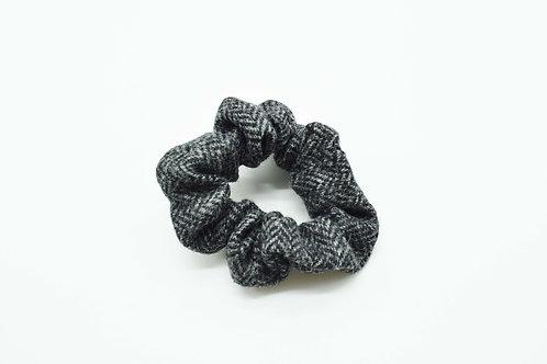 The Rivenhall Scrunchie - Grey Herringbone