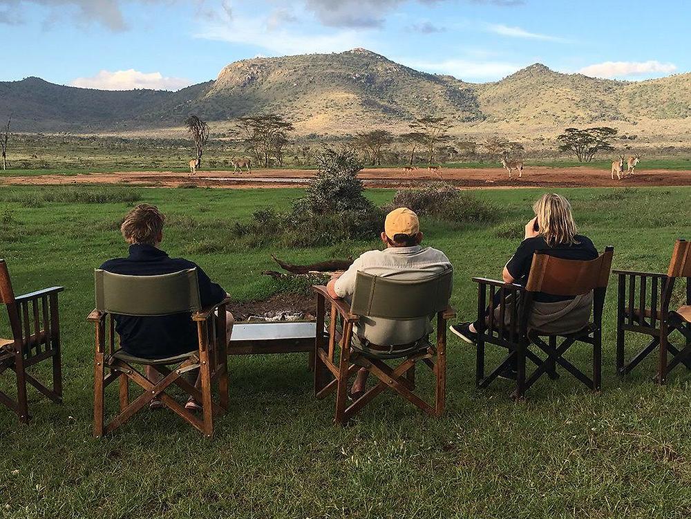 Surveying the Kenyan savannah