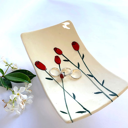 Roses square plate