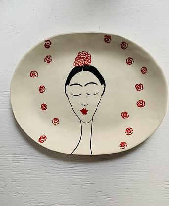 Frida oval  plate