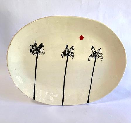 Palm Trees oval