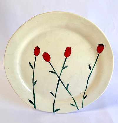 Roses large plate