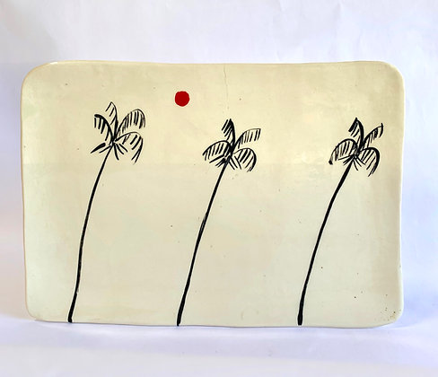 Palm Trees square plate