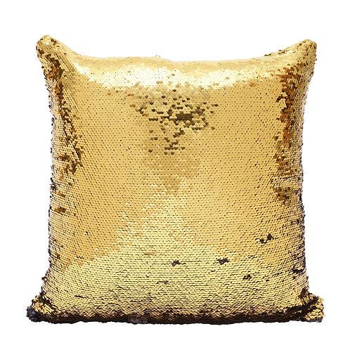 Almofada Paetês Dourada