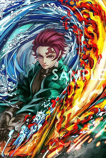 POSTER | TANJIRO | Dragon of Change - Hinokami Kagura