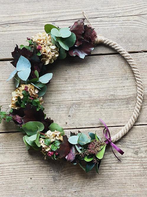 Autumn jute wreath
