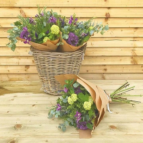 Cottage style hand tied