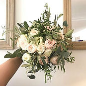 Bridal bouquet with the most beautiful c