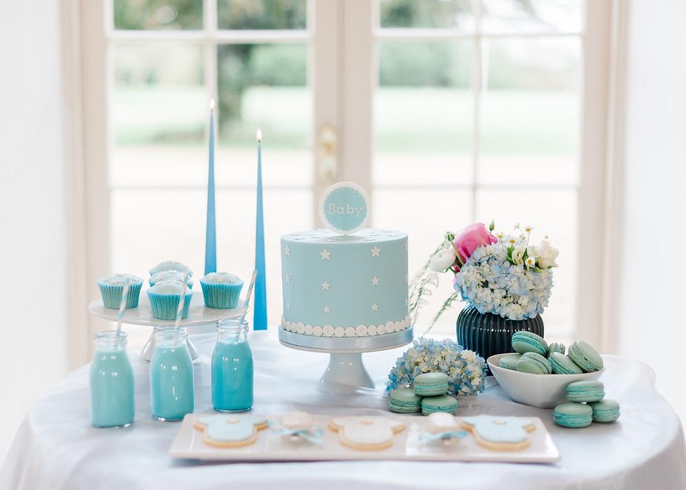 Royal Prince Baby boy baby shower dessert table