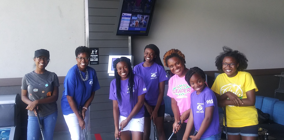 Girl Scouts Golfing