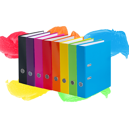 LEVER ARCH FILE KORONA, 7,5cm A4, GLOSSY, VARYING COLORS
