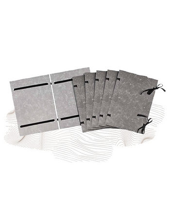 CARDBOARD DOCUMENT COVERS  WITH TIES, A4, MARBLE