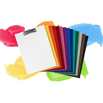 CLIPBOARD KORONA A4 (PORTRAIT), PP/PP - VARYING COLOURS