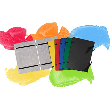 CARDBOARD DOCUMENT COVERS  WITH TIES, A4, PP - VARYING COLOURS