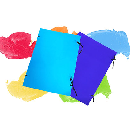 CARDBOARD DOCUMENT COVERS  WITH TIES, A2, LAMINO - VARYING COLOURS