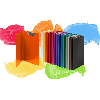 CLIPBOARD WITH COVERS KORONA A4, PP/PP - VARYING COLOURS