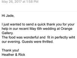 Wedding Catering - 2017