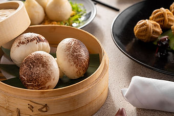 Dim Sum - Steamed WIld Mushroom Buns wit