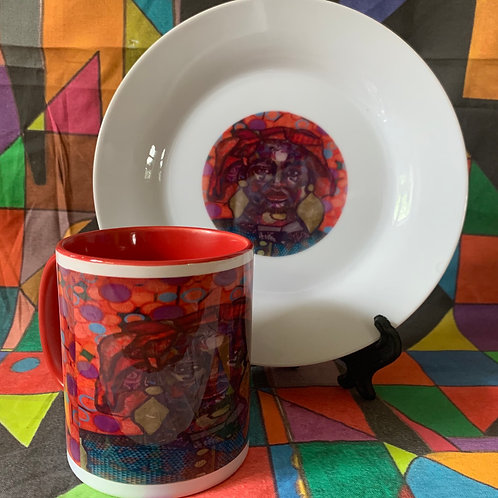 Orange Moon mug set