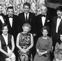 Clydebank Cricket Club  - Back row:- R. Riddle (President), Mr Tausney (Patron), Provost Queenan (Hon. Pres.), Mr Brown (Patron), B Martin (Sect) Front row:- Mrs Riddle, Mrs Brown, Mrs Tausney, Miss Pomphrey. - Photo supplied by Billy McKain and Davie King