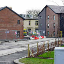 A mixture of different styles of social houses and flats getting built on the site of St Andrews School.  -  1st February 2021