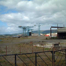 Demolition continues at the Yard.  -  27th August 2001