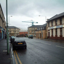 Kilbowie Road looking down towards the juction of Glasgow Road and Dumbarton Road.  -  27th January 2002