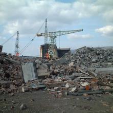 Demolition of the Pump Room.  -  9th April 2002