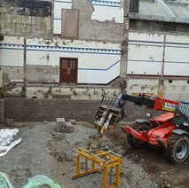 Demolition has finished on the old Clydebank Baths, building work is now progressing. 22nd March 2011