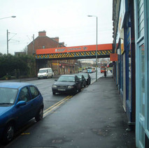 Looking up Kilbowie Road.  -  27th January 2002