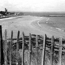 St Andrews beach photographed from Kinkell Braes.  -  16th July 1978
