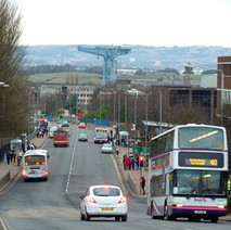 Looking down Kilbowie Road - 27th January 2011